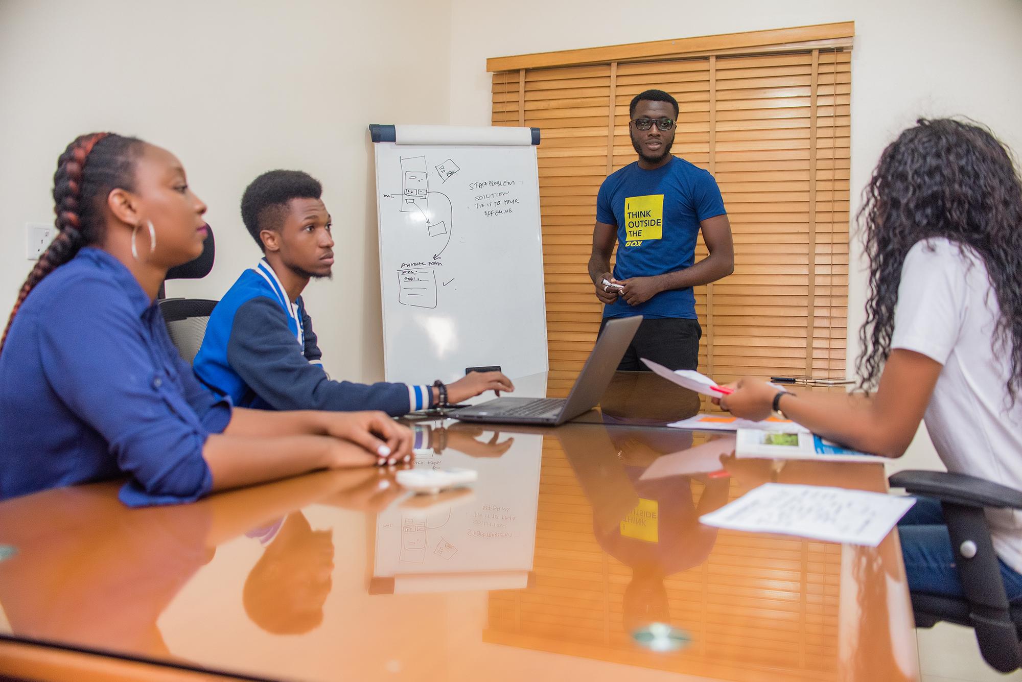 Team measuring innovation success